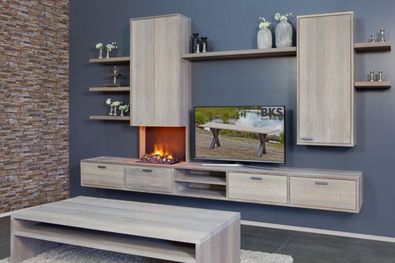 tv-dressoir met haard