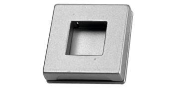 vierkante greep nikkel