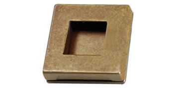 vierkante greep brons