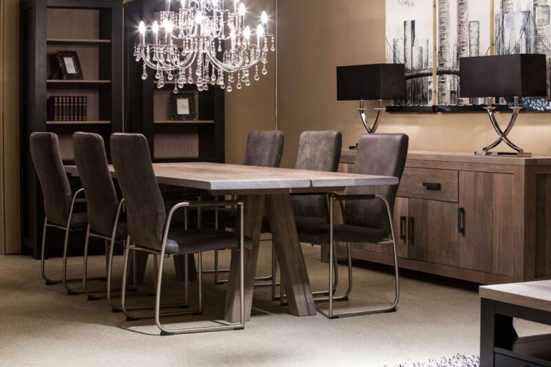 moderne massief eiken tafel