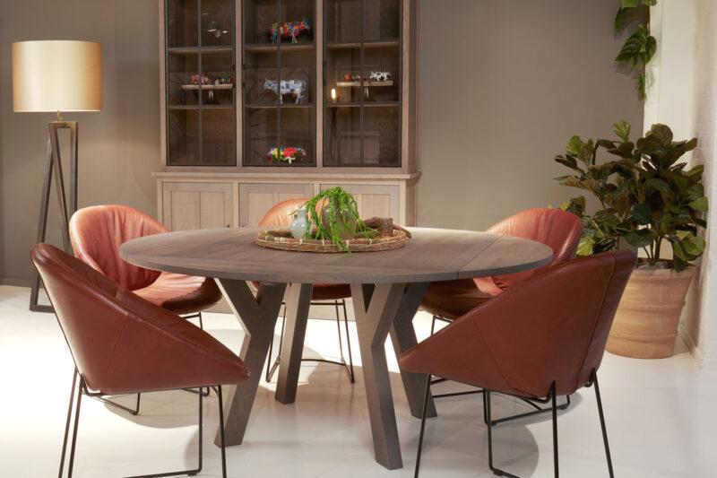ronde uitklapbare tafel